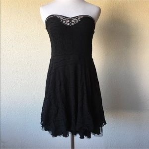 Free people strapless lace dress